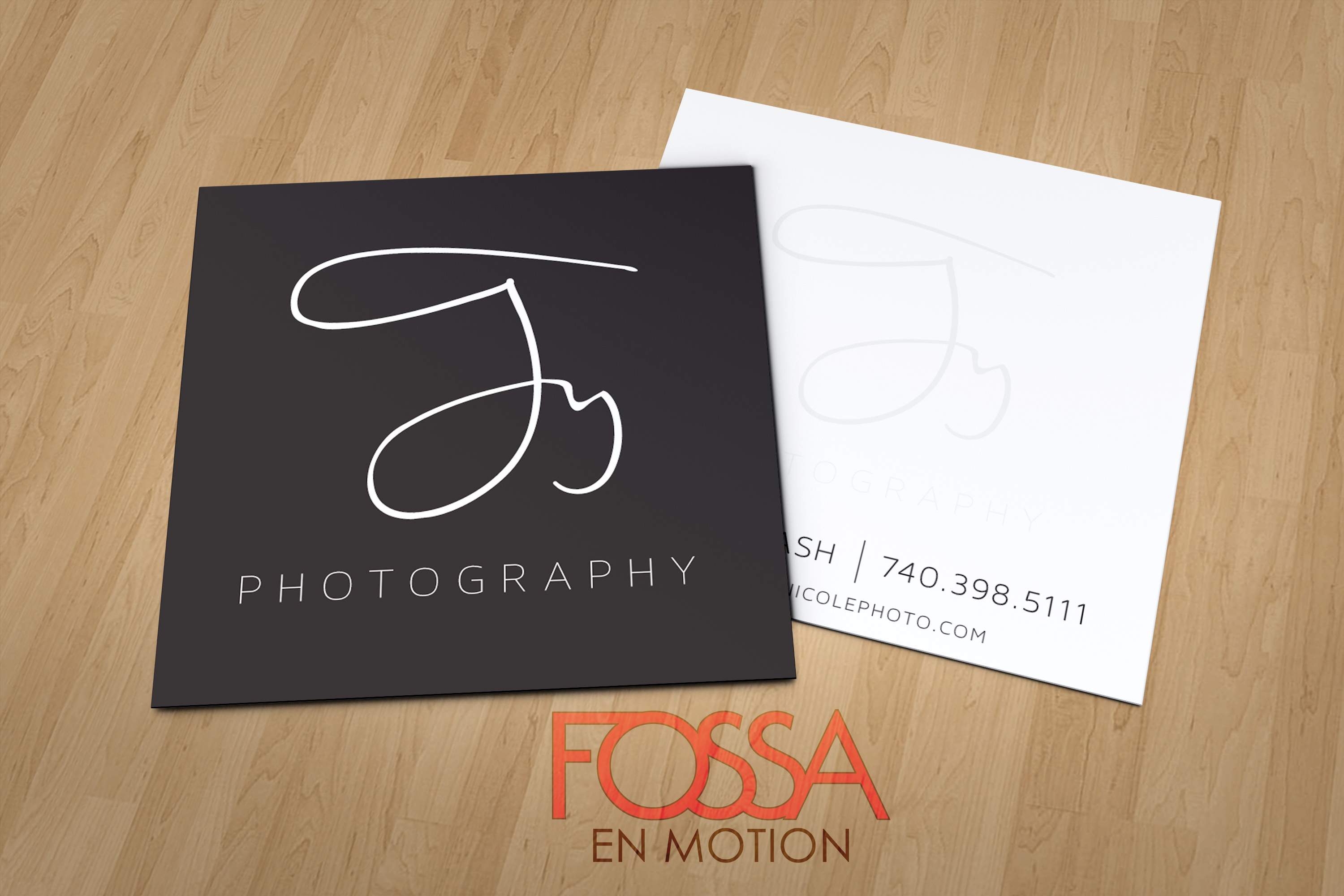 Ty nicole photography fossa the client wanted to alter their company image and make it more upscale this was achieved and first implemented with a square business card reheart Image collections